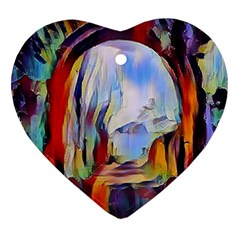 Abstract Tunnel Heart Ornament (two Sides)