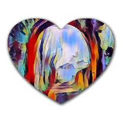 Abstract Tunnel Heart Mousepads