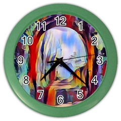 Abstract Tunnel Color Wall Clocks