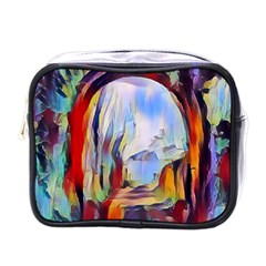 Abstract Tunnel Mini Toiletries Bags