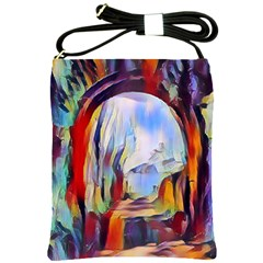 Abstract Tunnel Shoulder Sling Bags by Love888