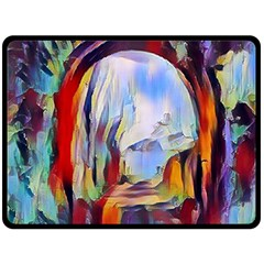 Abstract Tunnel Fleece Blanket (large)
