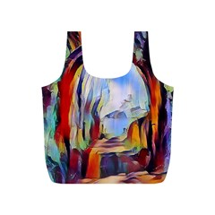 Abstract Tunnel Full Print Recycle Bags (s)