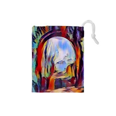 Abstract Tunnel Drawstring Pouches (small)