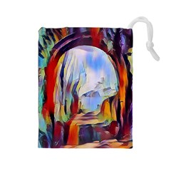 Abstract Tunnel Drawstring Pouches (large)