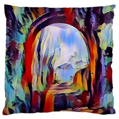 Abstract Tunnel Large Flano Cushion Case (two Sides)
