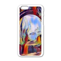 Abstract Tunnel Apple Iphone 6/6s White Enamel Case