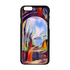 Abstract Tunnel Apple Iphone 6/6s Black Enamel Case