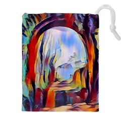 Abstract Tunnel Drawstring Pouches (xxl)