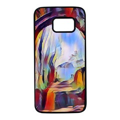 Abstract Tunnel Samsung Galaxy S7 Black Seamless Case