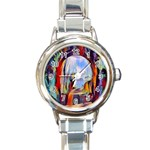 abstract tunnel Round Italian Charm Watch