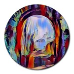 abstract tunnel Round Mousepads