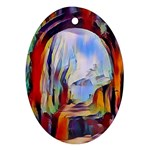 abstract tunnel Ornament (Oval)