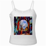 abstract tunnel White Spaghetti Tank