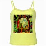 abstract tunnel Yellow Spaghetti Tank