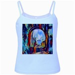 abstract tunnel Baby Blue Spaghetti Tank