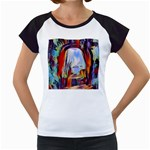 abstract tunnel Women s Cap Sleeve T