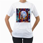 abstract tunnel Women s T-Shirt (White) (Two Sided)