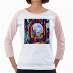 abstract tunnel Girly Raglans