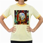 abstract tunnel Women s Fitted Ringer T-Shirts