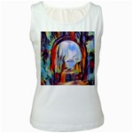 abstract tunnel Women s White Tank Top
