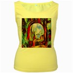 abstract tunnel Women s Yellow Tank Top