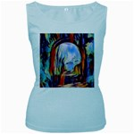 abstract tunnel Women s Baby Blue Tank Top