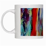 abstract tunnel White Mugs