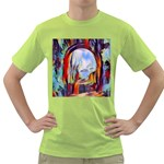 abstract tunnel Green T-Shirt