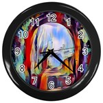 abstract tunnel Wall Clocks (Black)