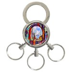 abstract tunnel 3-Ring Key Chains