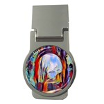 abstract tunnel Money Clips (Round)