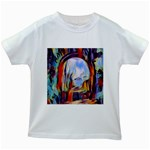 abstract tunnel Kids White T-Shirts