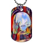 abstract tunnel Dog Tag (Two Sides)