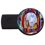 abstract tunnel USB Flash Drive Round (2 GB)