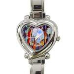 abstract tunnel Heart Italian Charm Watch