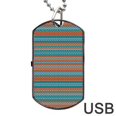 Winter Pattern 1 Dog Tag Usb Flash (one Side) by tarastyle