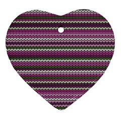 Winter Pattern 2 Heart Ornament (two Sides) by tarastyle