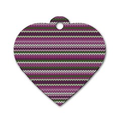 Winter Pattern 2 Dog Tag Heart (one Side) by tarastyle