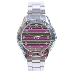 Winter Pattern 2 Stainless Steel Analogue Watch by tarastyle