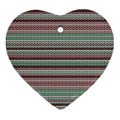 Winter Pattern 3 Ornament (heart) by tarastyle