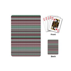Winter Pattern 3 Playing Cards (mini)  by tarastyle