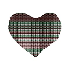 Winter Pattern 3 Standard 16  Premium Flano Heart Shape Cushions by tarastyle