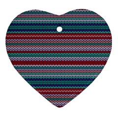 Winter Pattern 4 Ornament (heart) by tarastyle