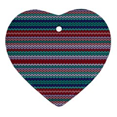 Winter Pattern 4 Heart Ornament (two Sides) by tarastyle