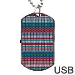 Winter Pattern 4 Dog Tag Usb Flash (two Sides) by tarastyle