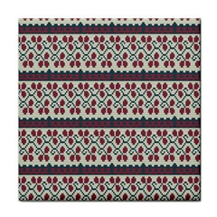 Winter Pattern 5 Tile Coasters by tarastyle