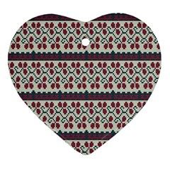 Winter Pattern 5 Ornament (heart) by tarastyle