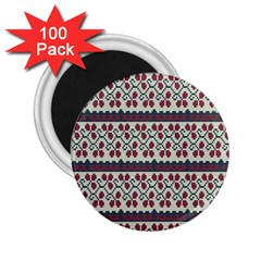 Winter Pattern 5 2 25  Magnets (100 Pack)  by tarastyle
