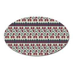 Winter Pattern 5 Oval Magnet by tarastyle
